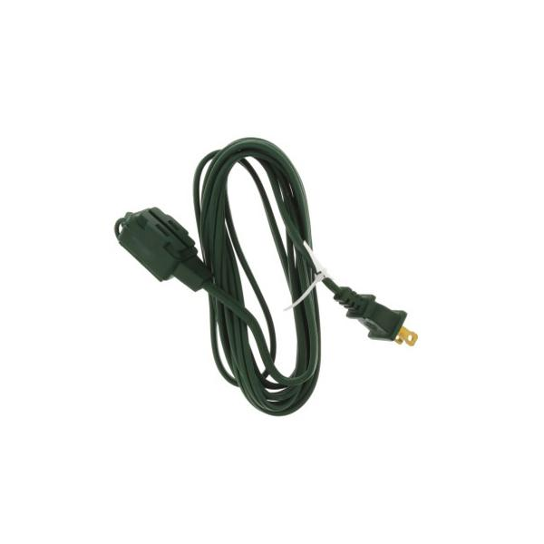 9' 3 Outlet Green Indoor Extension Cord