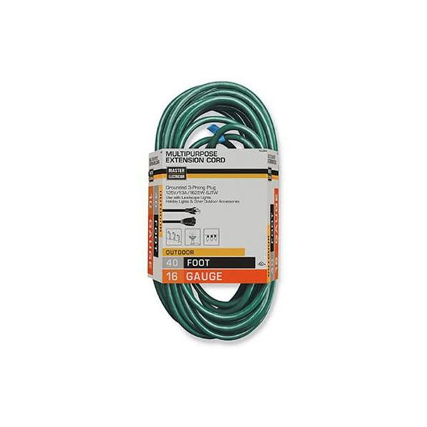 40' Green Outdoor Extension Cord