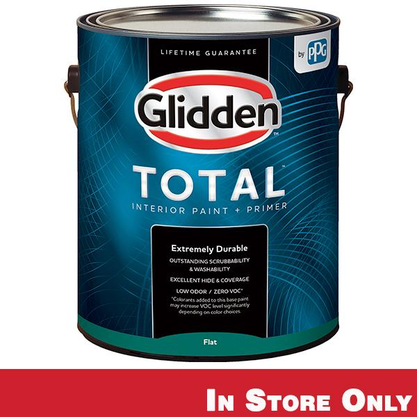 Glidden Total Interior Paint + Primer Flat Gallon