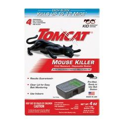 Tomcat 0371610 Disposable Mouse Bait Station, 1 oz Bait, Emerald Green