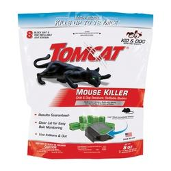 Tomcat 0372010 Mouse Bait Station Refill, 8-1/4 in W, 8.5 in H, 8 oz Bait,