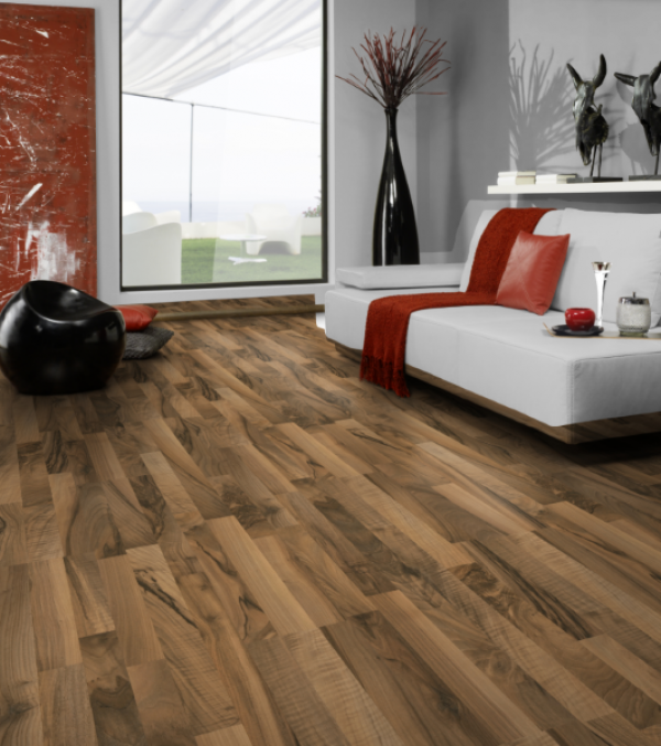 Laminate Flooring w/Pad - Ticino Walnut