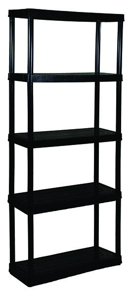 5 SHELF UNIT-MD BLK.