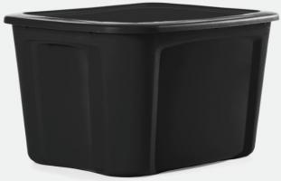 19 Gallon Black Storage Tote