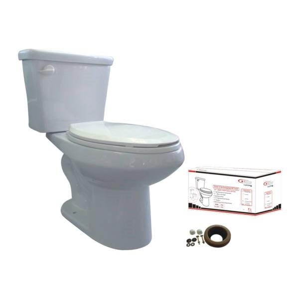 Elongated Grab-N-Go Toilet White