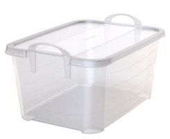 55Qt Clear Tote with Handles