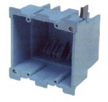 Old Work Super Blue PVC Box - 2 Gang